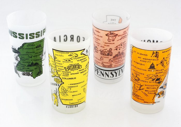 Vintage & Collectible! State Glassware from the 1950's