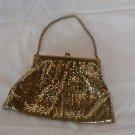 Whiting & Davis Vintage Gold Metal Mesh Evening Bag