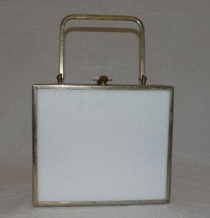 White Lucite Box Bag