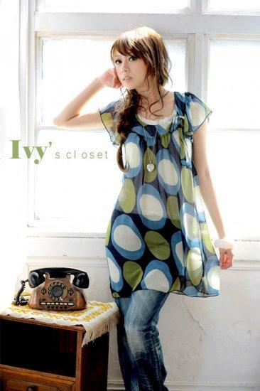 Beauty Classical Circle Prints Dress