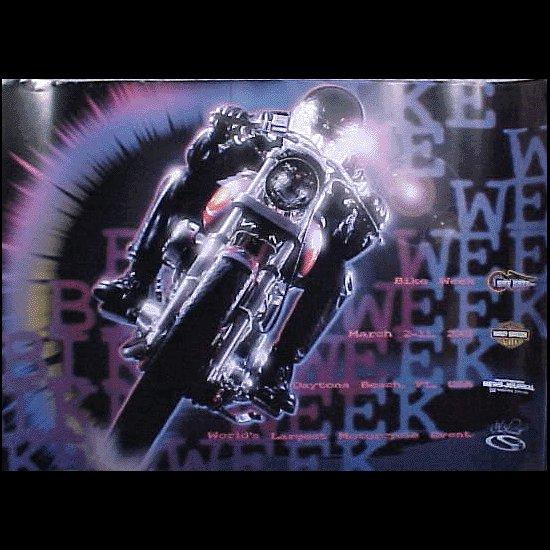 Bike Week 2001 Daytona Beach Official Motorcycle Biker Posters