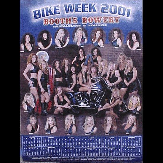 Bike Week 2001 Booths Bowery Poster