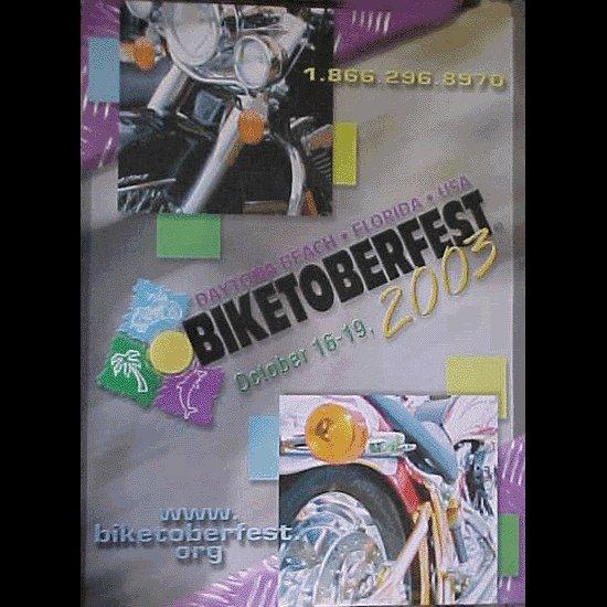Biketoberfest 2003 Official Motorcycle Poster Daytona