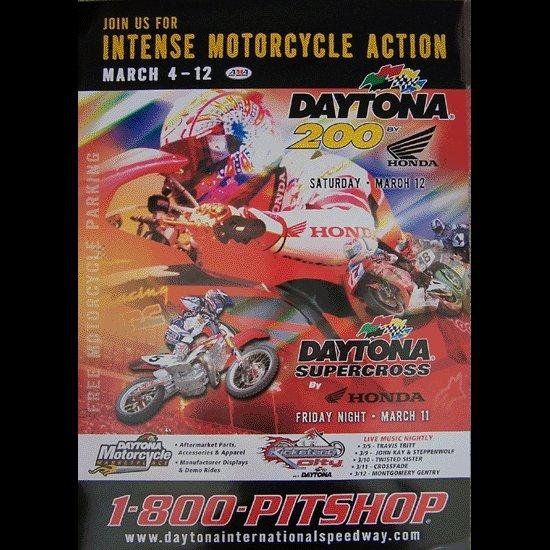 Daytona Beach Supercross Motocross Poster