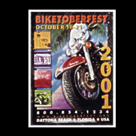 Biketoberfest 2001 Motorcycle Biker Official Posters Daytona Beach