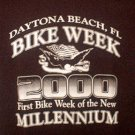 Collectible Bike Week T Shirt 2000 Black Medium FREE SHIP