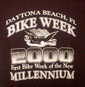 Collectible Bike Week T Shirt 2000 Black Medium FREE SHIP