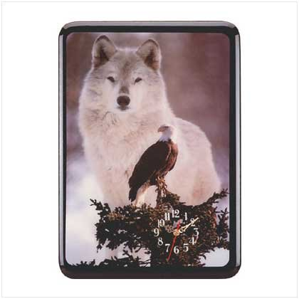 EAGLE AND WOLF CLOCK - Code: 28397