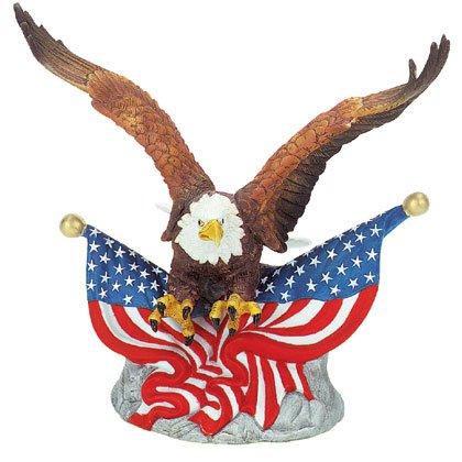 PORC EAGLE W/2 FLAGS - Code: 24795