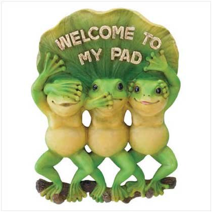 Welcome To My Pad Frogs - Alabastrite - Code: 35633