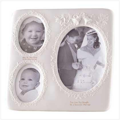 WHITE PORC WEDDING PHOTO FRAME - Code: 27123