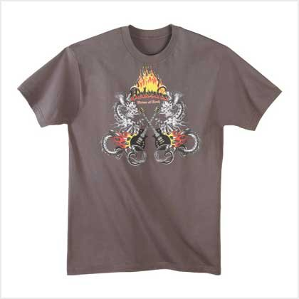 FLAMING GUITAR T-SHIRT - Large - Code: 38901