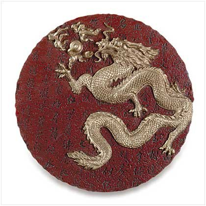ALAB. GOLD DRAGON ROUND PLAQUE - Code: 30732