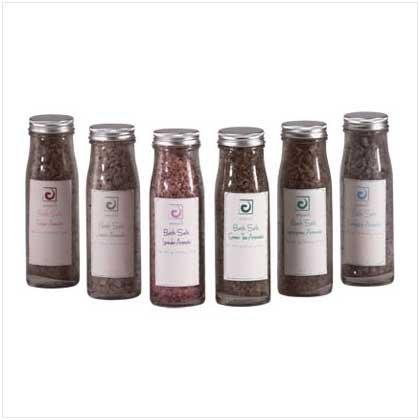 Bath Sea Salt/Glass Bottle - 6 Pc - Code: 35016