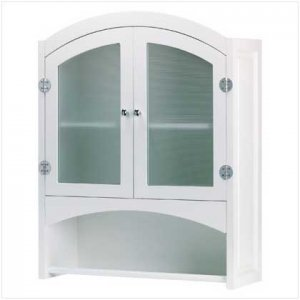 Wood Wall Cabinet with Towel Holder - Code: 35013