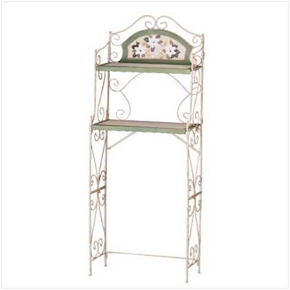Metal Magnolia Bathroom Shelf - Code: 34769