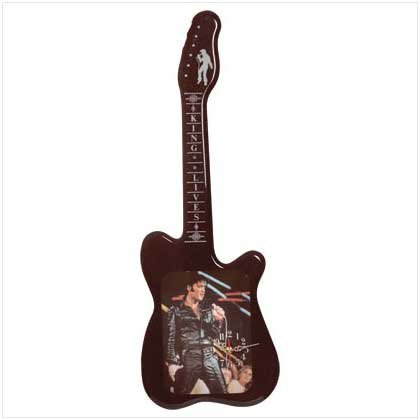 GUITAR SHAPE ELVIS CLOCK - Code: 33921