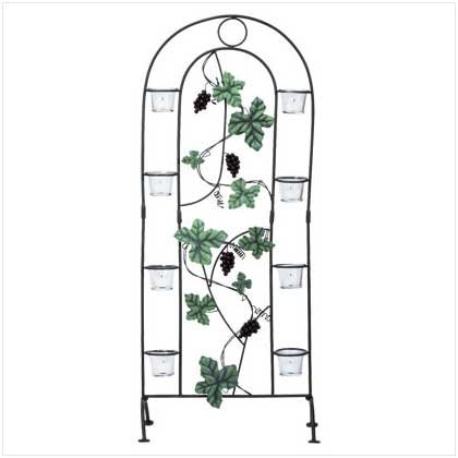 Metal Grapes Candle Screen - Code: 34141