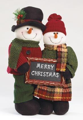 Plush Standing Snowman Couple - Code: 35711