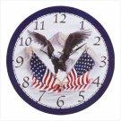 Patriotic Eagle/Flags Clock - Code: 34103