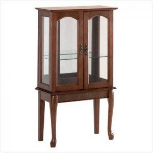 Wood Glass Door Curio Cabinet - Code: 35038