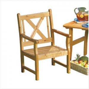 Pine Wood Outdoor Chair - Code: 36700