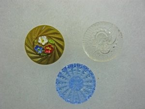 3 Glass buttons - NBS Small