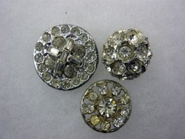 3 Pastes  - Glass mounted in metal - NBS Medium & Small