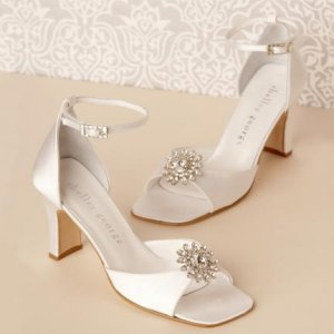New Satin Ankle Strap Shoes