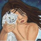 """THE CAT GUARDIAN"" ORIGINAL OOAK ACEO"
