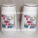 Flags of Confederacy Fine Porcelain Salt & Pepper Shaker Set NEW