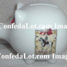 Robert E Lee Confederate Flag Fine Porcelain Piggy Bank NEW