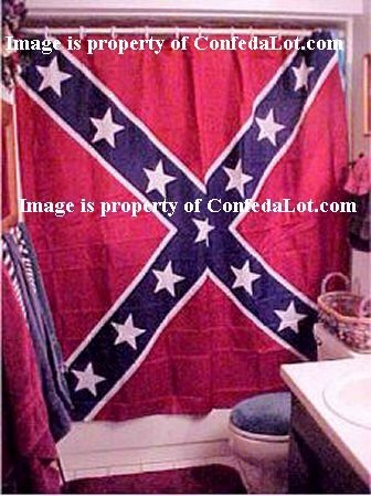Confederate Shower Curtain Full Battle Flag style NEW