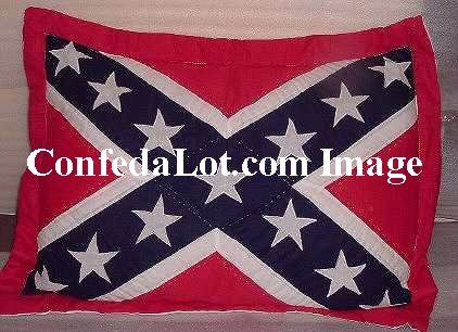 Confederate Quilted Pillow Sham set of 2 NEW