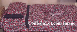 Confederate Toddler and Crib Bedding Set 4 piece NEW