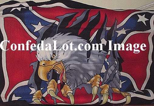 Confederate Flyin Eagle Fleece Throw 4ft x 5ft NEW