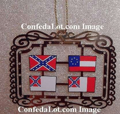 100 Brass Confederate Flags of Confederacy Dangling Ornaments NEW Below WHOLESALE