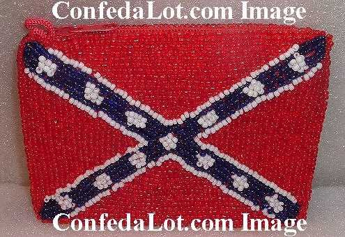 Confederate Zippered Carryall Pouch Pocket purse NEW