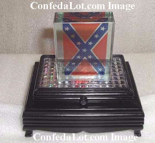 Confederate Paperweight set with Flashing Lighted Base NEW