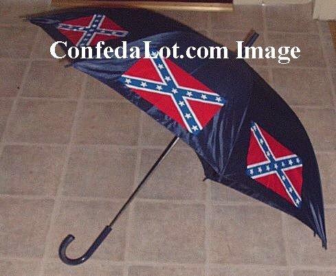 Confederate Umbrella Auto-open Huge sized 47 inch wide x 32 Inch Long NEW Heavy duty