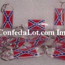 12 CONFEDERATE FLAG KEYCHAINS FINE LUCITE NEW