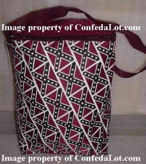 Confederate Insulated portable Cooling bag Beverage Snack Carryall NEW - fits a 12 pack comfortably