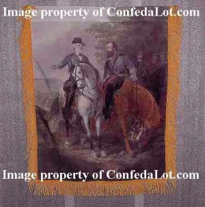 The Last Meeting Full Color Wallhanging Gold Fringed w/ Pole Sleeve NEW Confedererate Civil War