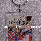 Flags of Confederacy Keychain Fine Lucite Keychain NEW