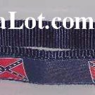Confederate Dog Collar strong non pop Nylon Webbing NEW