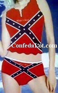 Confederate Bikini RebeL Chick Cami style  Set NEW