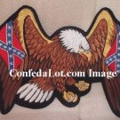 Huge 13 inch Confederate Eagle and Flags Embroidered Patch NEW Iron on or Sew on