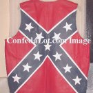 Large WHOLESALE Confederate Flag Leather Vest SIZE LARGE NEW