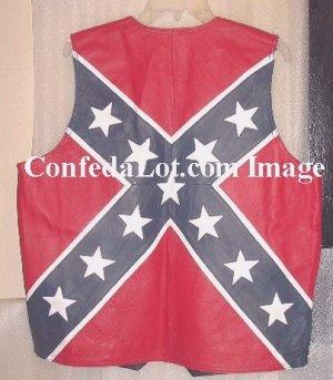 2XL Confederate Vest Leather  SIZE 2XL NEW WHOLESALE