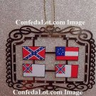 Brass Confederate Flags of Confederacy Dangling Brass Ornaments  NEW